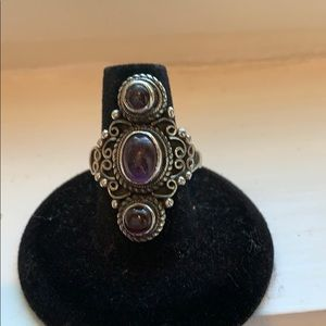 Jewelry - Amethyst and Sterling Silver Ring